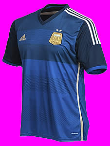 7b7bd9d94c2 Argentina Away Jersey 2014. Adidas ClimaCool made in Argentina. Short  Sleeves. Embroidered Badge. Official numbers available  10 MESSI
